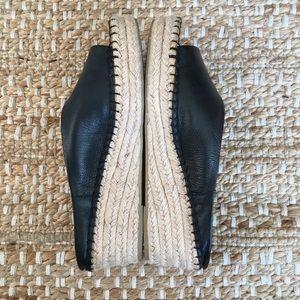 Franco Sarto Shoes - Franco Sarto Leather Pine Espadrille Wedge Sandal